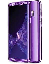 Zater Compatible with Hülle Samsung Galaxy S8/S9 Hüllen, Galaxy S7 Handyhülle 3 in 1 Ultra Dünn Hartschale 360 Grad Hart PC Hardcase Backcover Schutzhülle Schutz für Galaxy S9 Plus/S8 Plus