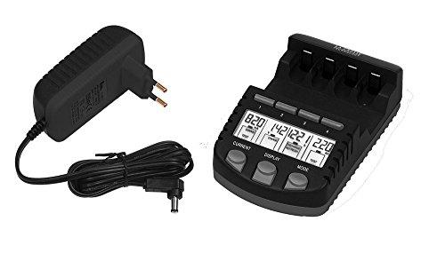 La Crosse Technology RS700 Chargeur de piles rechargeables prise europe - Noir