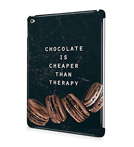 Chocolate Is Cheaper Than Therapy Cookies Durable Hard Plastic Snap On Tablet Case Cover Shell For iPad Air 2 Coque Housse Etui