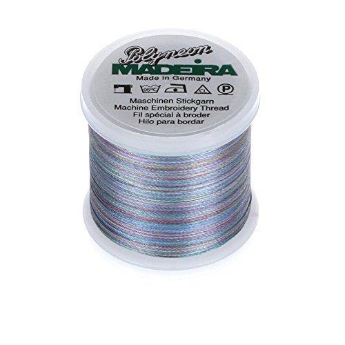 MADEIRA 9845-- 16062-lagig Polyneon Polyester Stickgarn, 40wt/135D 440YD, Bunte Regenbogen -
