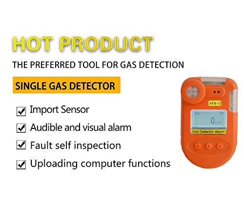 Luftqualitätsdetektor tragbare Gasdetektion Detektion brennbarer Gase Erdgasdetektion, hochauflösendes LCD Display, Fehlerselbsttest, Schall- und Lichtschock Dreifachalarm, ist der ideale Luftdetektor -
