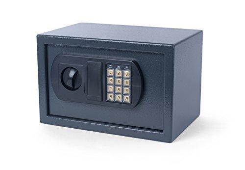 Pavo, Cassaforte da tavolo/parete con lucchetto a combinazione elettronica, 31 x 20 x 20 cm, 8040391