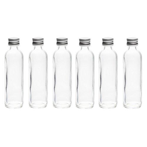 50 x 20 ml Glas-flaschen Mini miniatur Fläschchen Schnaps-Fläschchen kleine -