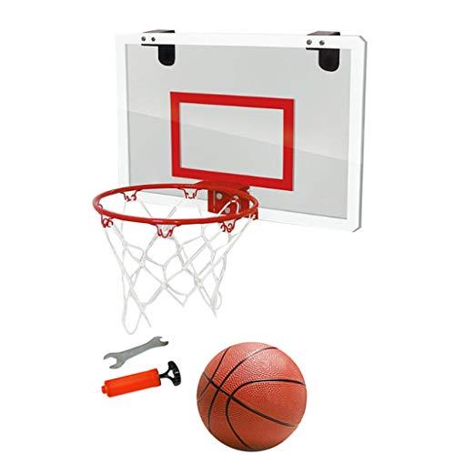 TIREOW Transparentes Hängen Tür Basketballkorb Basketball Vorstand Schlagfreier Mini Basketballkorb Basketball über der Tür zum Wohnheim Schlafzimmer Spielzimmer Büro (Rot)