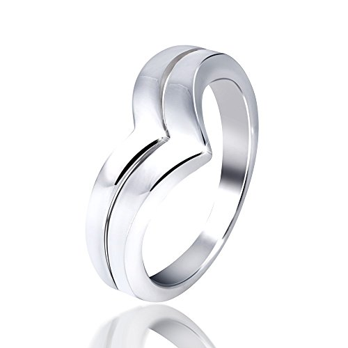 MATERIA 925 Sterling Silber Ring ARROW modern - Silberring Damen hochglanzpoliert inkl. Schmuckbox #SR-72, Ringgrößen:62 (19.7 mm Ø)
