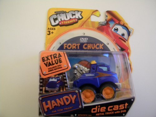 Tonka Chuck & Friends Handy the Tow Truck & DVD - Die Cast Metal Truck by Tonka - Tow Diecast Truck
