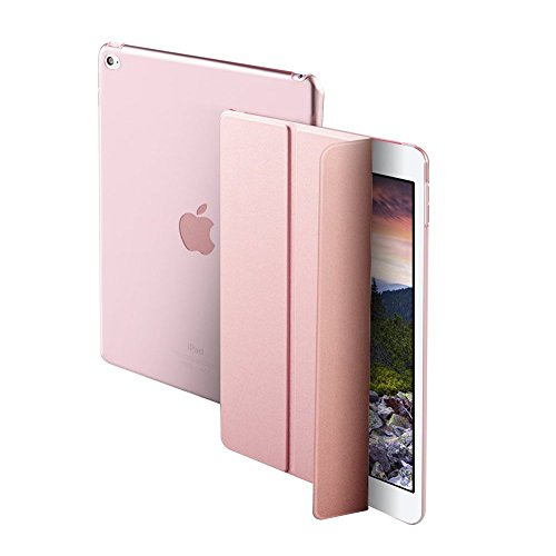 Robustrion Smart Cover Trifold Stand For iPad 2017 9.7 inch (A1822/A1823) (Rose...