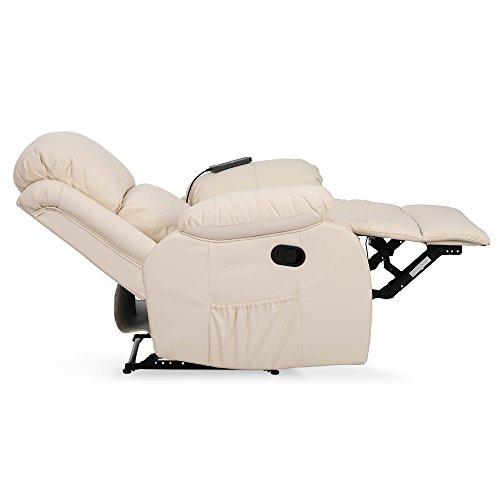 Novohogar Fauteuil de Massage Coliseum Système de Chauffage Lombaire et 10 Moteurs Qui Couvrent Les 4 Zones du Corps, Dossier inclinable et Repose-Pieds Extensible