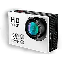 Camara deportiva 12MP 1080P HD CamaraSports color plata GoPro pantalla grande de 2 pulgadas con muchos accesorios