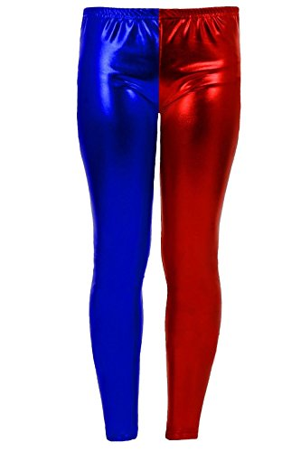 Generic -  Pantaloni  - Donna Blue/Red Leggings