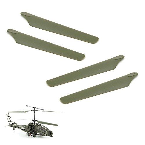 Syma Outdoor Hubschrauber Rc (Original Rotorblätter-Set für RC Hubschrauber Syma S009, Apache Helikopter, Ersatzteil, Neu)
