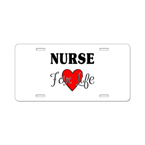 CafePress-Nurse für Life-Aluminium Nummernschild, vorne Nummernschild, Vanity Tag (Rn Geschenke Männliche)