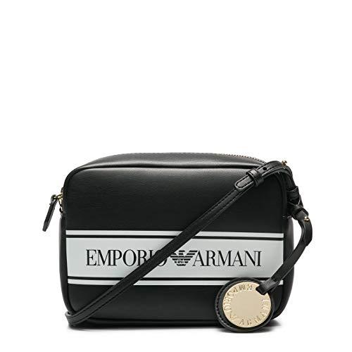 Emporio Armani Y3B092-YFG7A-88009 Umhängetaschen Damen Schwarz/Weiss - Einheitsgrösse - Umhängetaschen