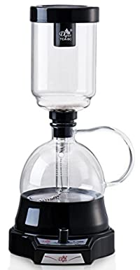 The New Generation of Syphon Coffee Brewer - Diguo Electric Siphon Coffee Maker Vacuum Coffee Maker, No Alcohol and Fire, Easy Use Coffee Syphon Machine, 3 Cups (Black)