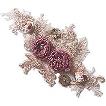 Lorsoul Flores de Color a Mano Ropa de Vestir Bordadas Parches Jeans Apliques Tela de la