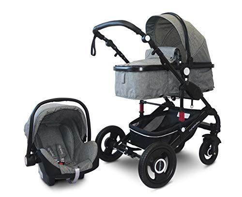 Cynebaby Kombi-Kinderwagen 3in1 (grau melange)