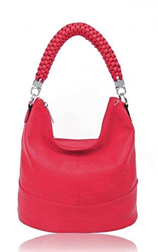 LeahWard Frauen Schultertaschen Nizza Faux Leder Kreuz Körper Tasche Tote Handtaschen CW160931 (Orchid Schultertasche) (Faux Orchid Leder)