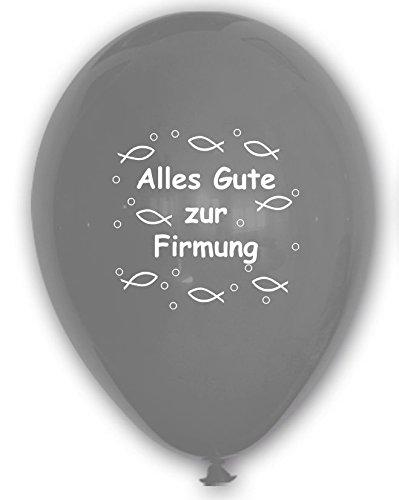 10 Luftballons Alles Gute zur Firmung, SILBER, ca. 30 cm Durchmesser