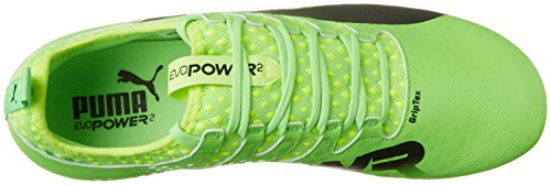 Puma Evopower Vigor 2 MX SG, Chaussures de Football Homme Vert (Green Gecko-puma Black-safety Yellow 01)