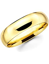8c5a49552462b Paradise Jewelers 10 K Oro Giallo Massiccio 6 mm Wedding ...
