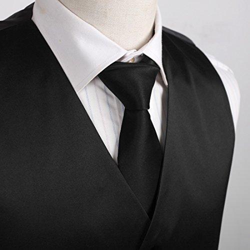 DGDE.01 Plaine microfibres gilet cravate par Dan Smith DGDE0001-Noir