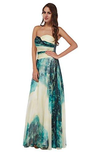 Missdressy Damen Elegant Chiffon Abendkleid Partykleid Festkleid Tanzenkleid in verschiedene Stil G