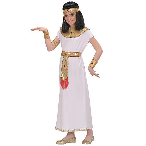 Widmann 58667 - Kinderkostüm Cleopatra, Tunika, Gürtel, Halsband, Schlangenarmbänder und Kopfbedeckung, Größe 140