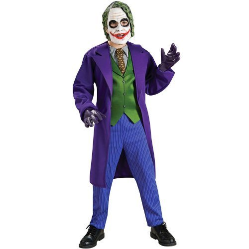 Batman The Dark Knight The Joker tm Luxus Kostüm mit Vinylmaske für Kinder Ordnet nach dem Größe Kleinem Alter 3-4 (Knight Joker The Dark Kostüm)