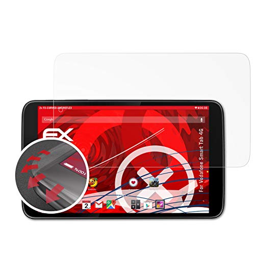 atFolix Schutzfolie passend für Vodafone Smart Tab 4G Folie, entspiegelnde & Flexible FX Bildschirmschutzfolie (2X)