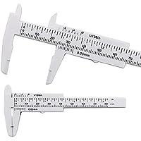 FUVOYA Messschieber 80 mm Mini Kunststoff Schiebemesser Messwerkzeug