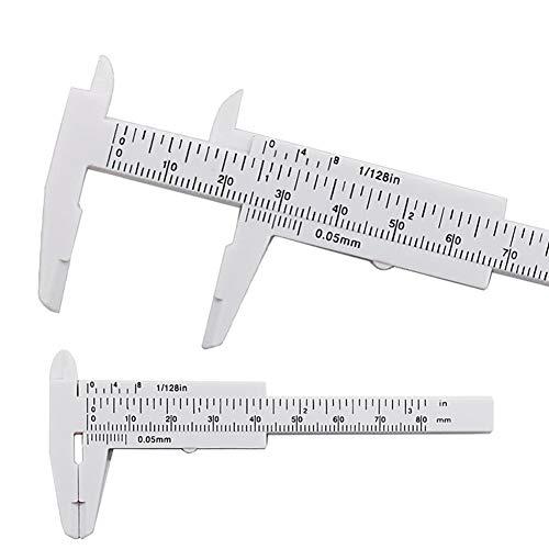 BONNIO Nonius Messschieber 80mm Mini-Kunststoff-Schieblehre Messwerkzeug