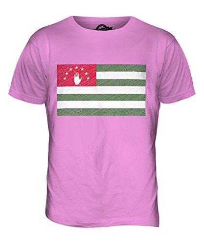 CandyMix Abchasien Kritzelte Flagge Herren T Shirt Rosa