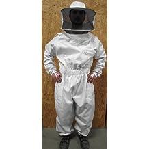 Wei/ß LOVIVER Baumwolle Schutzanzug Imkeranzug Imkerjacke Bienenschutz Jacke Schleier
