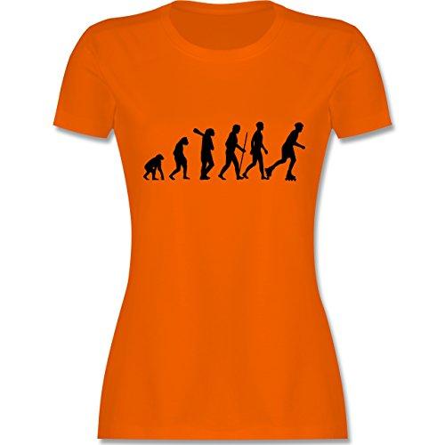 Evolution - Inliner Evolution - tailliertes Premium T-Shirt mit Rundhalsausschnitt für Damen Orange