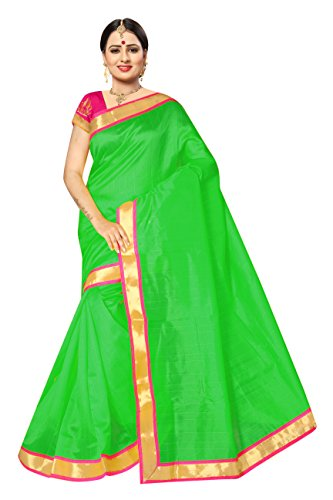 Purvi Fashion Women's Chiffon Saree with Blouse Pics (SPRINKLE RED_Black Colour_Free Size)...