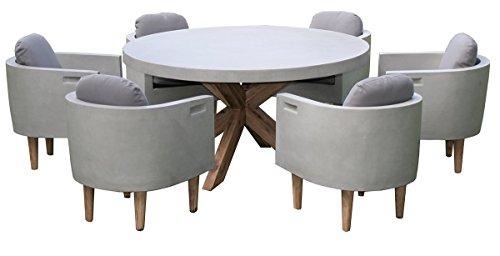 Matodi Gartenmöbel Set 7 teilig Sitzgruppe Betonmöbel Essgruppe