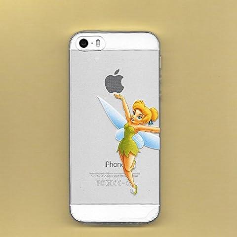 Nueva princesas Disney TPU transparente suave para Apple Iphone 4/4S 5/5S 5C 6/6S y 6+/6+ S * Comprobar oferta especial *, plástico, Tinkerbell1, Apple iPhone