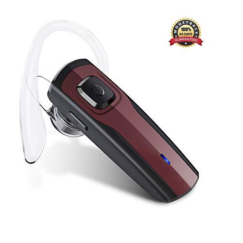 Bluetooth Headset, Wireless Headset Bluetooth V4.1 Freisprechanlage Bluetooth Ohr Headset Handy Rauschunterdrückung Ohrhörer mit Mikrofon für Android /iPhone /Auto /LKW Fahrer Business Headsets - Boom Wireless Headset
