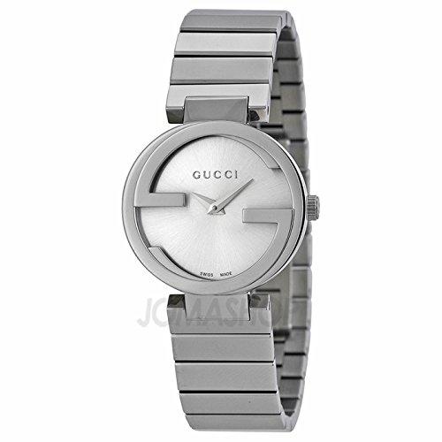 Gucci Gucci enclavamiento pequeño Plata Dial Acero inoxidable Acero Damas Reloj YA133503