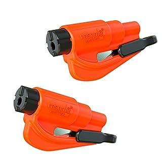 Resqme GB0-RQMTWIN-ORANGE Car Escape Tool, Orange, 2 Resqme