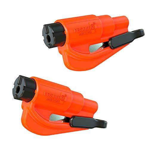 Resqme GBO-RQMTWIN-ORANGE Das Rettungswerkzeug als Schlüsselanhänger, Orange, 2er-Set