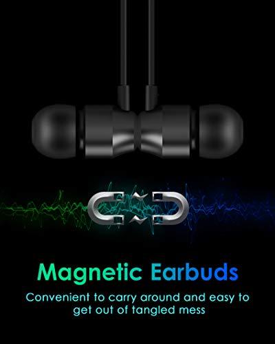 PALOVUE Earflow In-Ear Lightning Kopfhörer Magnetischer MFi Zertifizierter Ohrhörer mit Mikrofon-Controller für iPhone X/XS/XS Max/XR iPhone 8 / P iPhone 7 / P (Metallic Schwarz) - 4