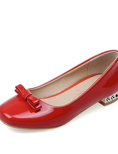 ShangYi Scarpe Donna - Ballerine - Casual - Punta arrotondata - Basso - Finta pelle - Nero / Rosso / Bianco Red