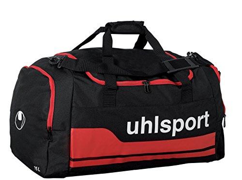 Uhlsport, Borsa sportiva Basic Line, Nero (Schwarz/Rot), L