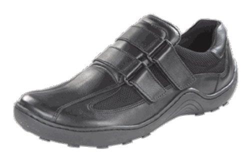 Com Baixos Uma Braga Palmilha Têxtil Preta Clássicos Estreita Sapatos Pele Natural Pegadas qO0fBUq
