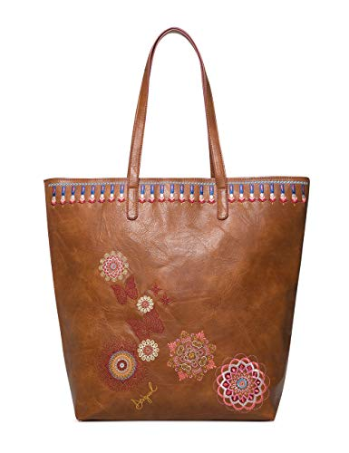 Desigual bag chandy rio zipper women - borse a spalla donna, marrone (marron), 12x37x29 cm (b x h t)