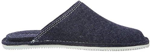 Living Kitzbühel Pantoffel Uni, Chaussons mixte adulte Bleu - Blau (Jeans 560)