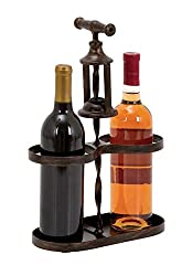 Deco 79 93738 Metal Wine Holder, 10