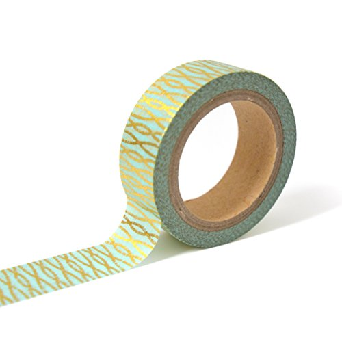 Unbekannt Toga MT110Kreppband verschlungene Fäden Washi Tape gold/blau 4x 9x 5cm