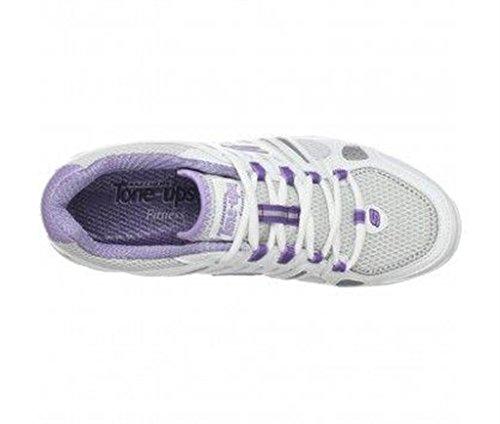 baskets skechers tone-ups glide blanc / parme femme skechers c62skechers012 Blanc